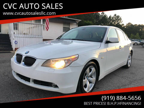 2007 BMW 5 Series for sale at CVC AUTO SALES in Durham NC