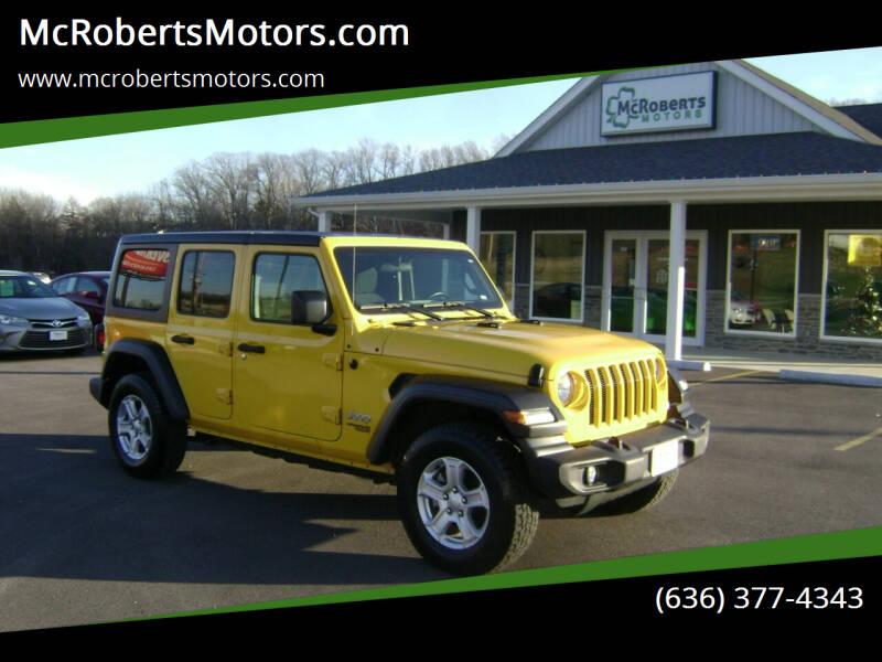 2019 Jeep Wrangler Unlimited for sale at McRobertsMotors.com in Warrenton MO