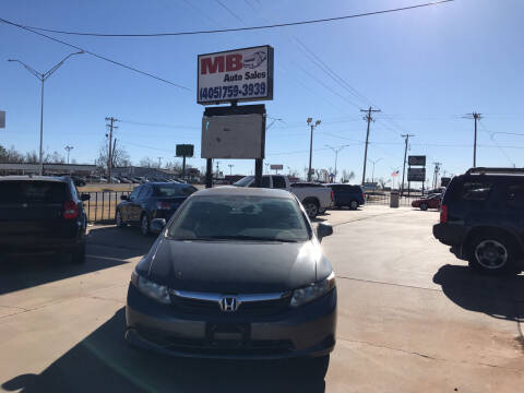 2012 Honda Civic for sale at MB Auto Sales in Oklahoma City OK