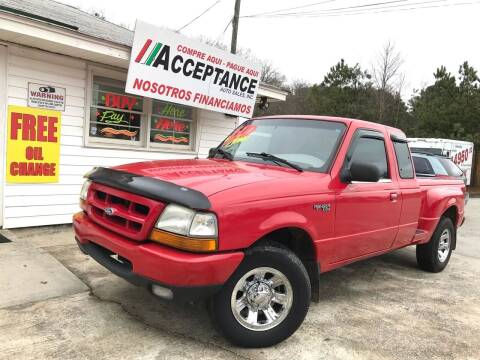 2000 Ford Ranger for sale at Acceptance Auto Sales Douglasville in Douglasville GA