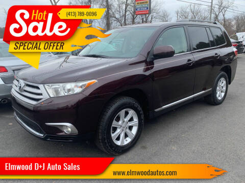 2011 Toyota Highlander for sale at Elmwood D+J Auto Sales in Agawam MA