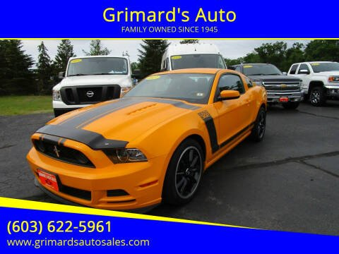 2013 Ford Mustang for sale at Grimard's Auto in Hooksett NH