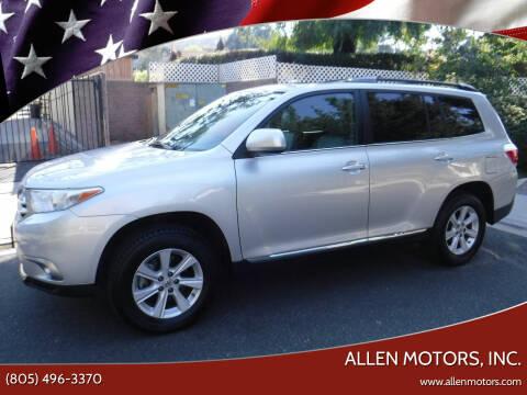 2013 Toyota Highlander for sale at Allen Motors, Inc. in Thousand Oaks CA