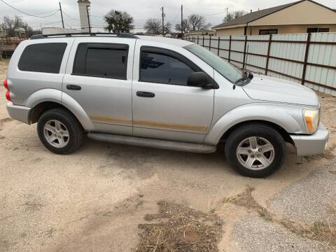 2005 Dodge Durango for sale at WF AUTOMALL in Wichita Falls TX