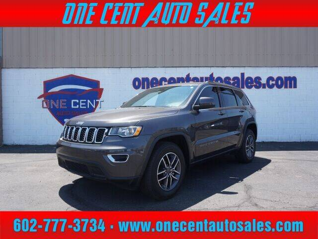 2019 Jeep Grand Cherokee for sale at One Cent Auto Sales in Glendale AZ
