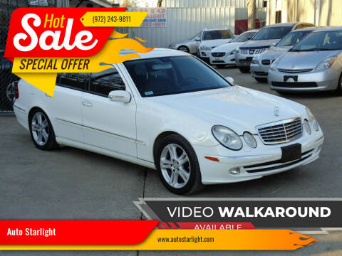 2005 Mercedes-Benz E-Class for sale at Auto Starlight in Dallas TX