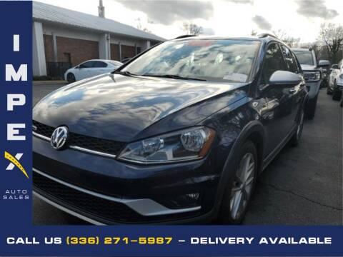 2017 Volkswagen Golf Alltrack for sale at Impex Auto Sales in Greensboro NC