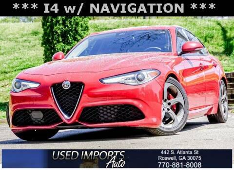 2018 Alfa Romeo Giulia for sale at Used Imports Auto in Roswell GA