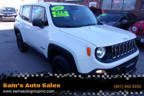 2017 Jeep Renegade for sale at Sam's Auto Sales in Cranston RI