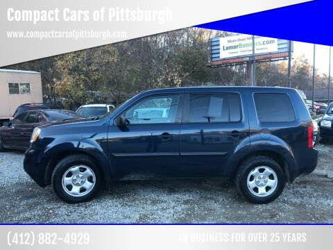 2012 Honda Pilot for sale at Compact Cars of Pittsburgh in Pittsburgh PA