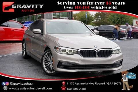 2017 BMW 5 Series for sale at Gravity Autos Roswell in Roswell GA