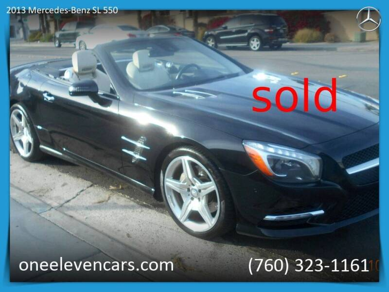 2013 Mercedes-Benz SL-Class for sale at One Eleven Vintage Cars in Palm Springs CA