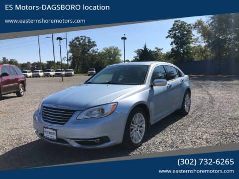 2012 Chrysler 200 for sale at ES Motors-DAGSBORO location in Dagsboro DE