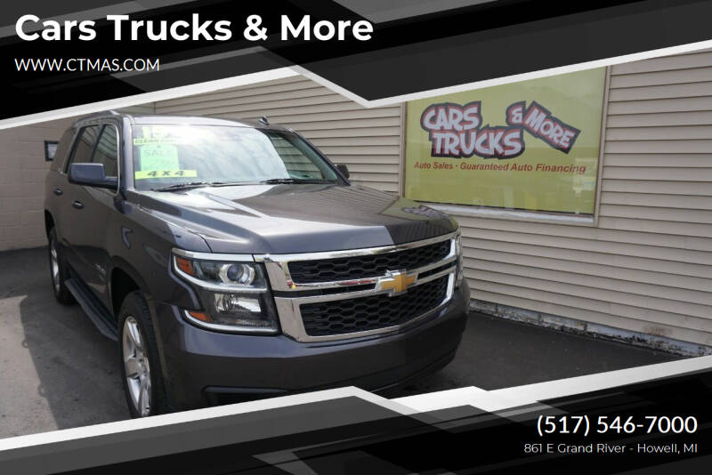 2015 Chevrolet Tahoe for sale at Cars Trucks & More in Howell MI