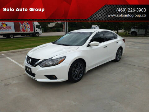 2018 Nissan Altima for sale at Solo Auto Group in Mckinney TX