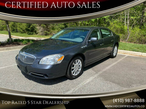 2011 Buick Lucerne for sale at CERTIFIED AUTO SALES in Severn MD