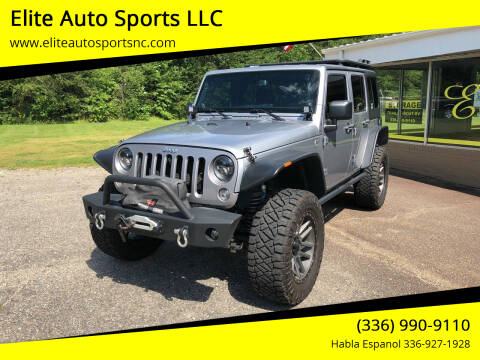 2014 Jeep Wrangler Unlimited for sale at Elite Auto Sports LLC in Wilkesboro NC