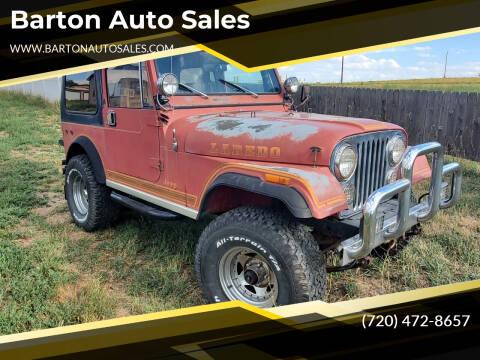 1984 Jeep CJ-7 for sale at Barton Auto Sales in Longmont CO