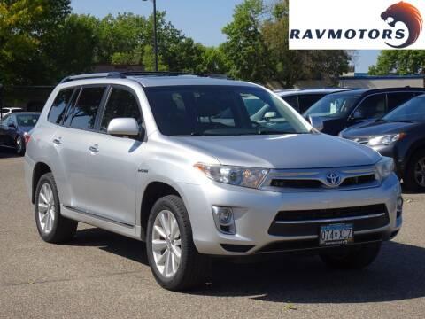 2013 Toyota Highlander Hybrid for sale at RAVMOTORS in Burnsville MN