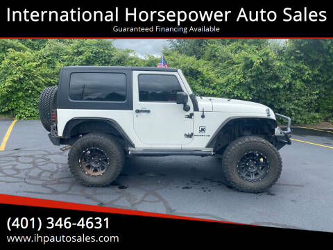 2008 Jeep Wrangler for sale at International Horsepower Auto Sales in Warwick RI