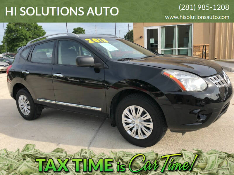 2015 Nissan Rogue Select for sale at HI SOLUTIONS AUTO in Houston TX