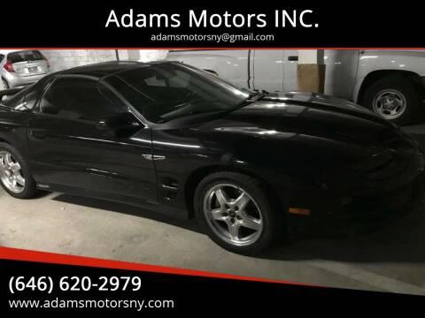 2002 Pontiac Firebird for sale at Adams Motors INC. in Inwood NY