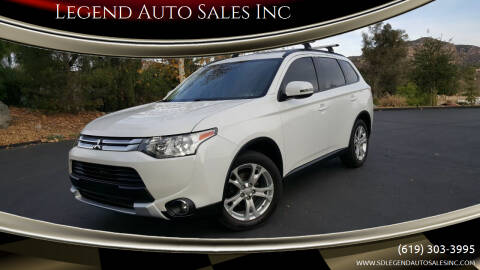 2015 Mitsubishi Outlander for sale at Legend Auto Sales Inc in Lemon Grove CA