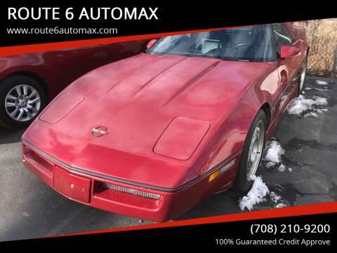1990 Chevrolet Corvette for sale at ROUTE 6 AUTOMAX in Markham IL