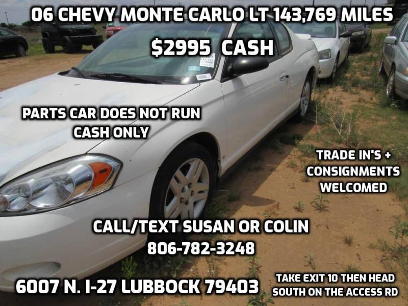 2006 Chevrolet Monte Carlo for sale at West Texas Consignment in Lubbock TX
