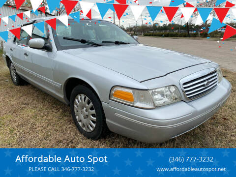 2001 Ford Crown Victoria for sale at Affordable Auto Spot in Houston TX