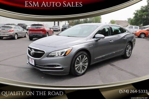 2019 Buick LaCrosse for sale at ESM Auto Sales in Elkhart IN
