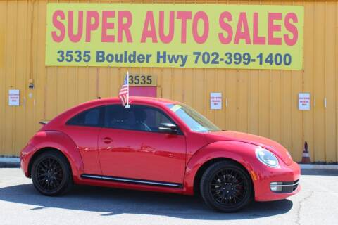 2012 Volkswagen Beetle for sale at Super Auto Sales in Las Vegas NV