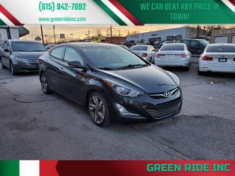 2014 Hyundai Elantra for sale at Green Ride Inc in Nashville TN