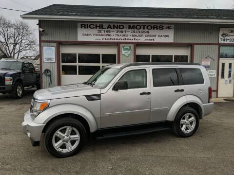 2007 Dodge Nitro for sale at Richland Motors in Cleveland OH