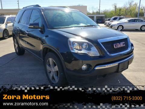 2012 GMC Acadia for sale at Zora Motors in Houston TX