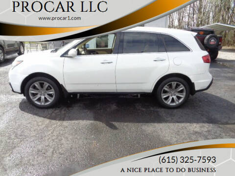 2013 Acura MDX for sale at PROCAR LLC in Portland TN