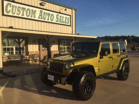 2007 Jeep Wrangler Unlimited for sale at Custom Auto Sales - AUTOS in Longview TX
