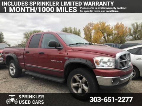 2007 Dodge Ram Pickup 1500 for sale at Sprinkler Used Cars in Longmont CO