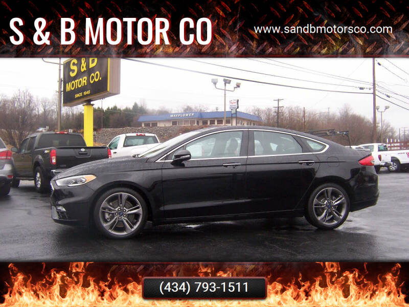 2017 Ford Fusion for sale at S & B MOTOR CO in Danville VA