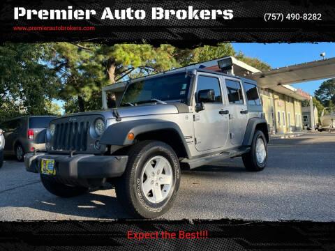 2015 Jeep Wrangler Unlimited for sale at Premier Auto Brokers in Virginia Beach VA