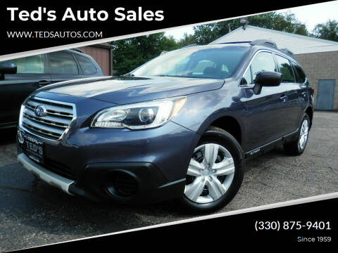 2015 Subaru Outback for sale at Ted's Auto Sales in Louisville OH