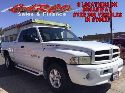2000 Dodge Ram Pickup 1500 for sale at CARCO SALES & FINANCE in Chula Vista CA