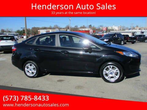 2015 Ford Fiesta for sale at Henderson Auto Sales in Poplar Bluff MO