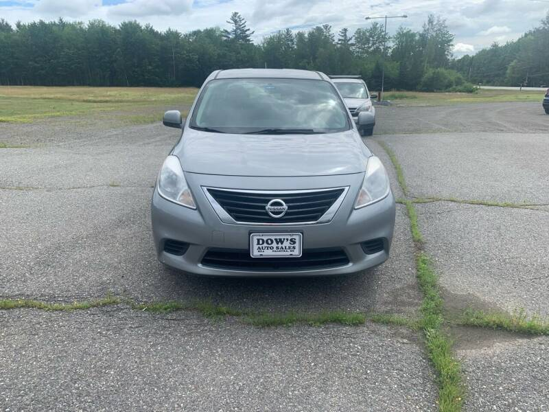 2012 Nissan Versa for sale at DOW'S AUTO SALES in Palmyra ME