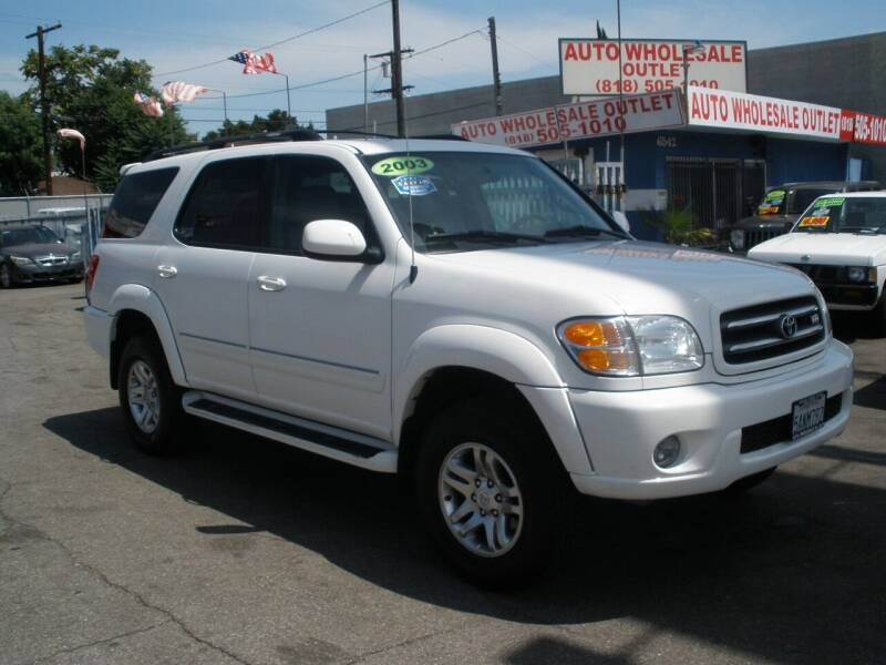 2003 Toyota Sequoia for sale at AUTO WHOLESALE OUTLET in North Hollywood CA