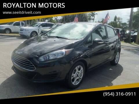 2015 Ford Fiesta for sale at ROYALTON MOTORS in Plantation FL