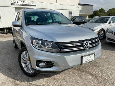 2012 Volkswagen Tiguan for sale at KAYALAR MOTORS in Houston TX