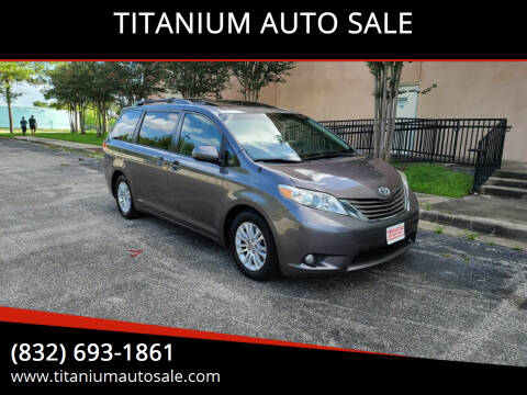 2011 Toyota Sienna for sale at TITANIUM AUTO SALE in Houston TX