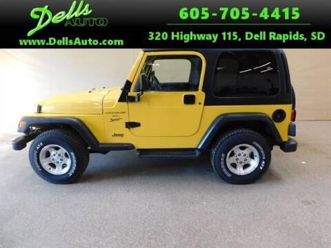 2001 Jeep Wrangler for sale at Dells Auto in Dell Rapids SD