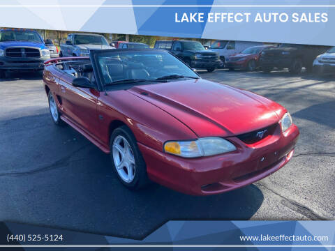 1994 Ford Mustang for sale at Lake Effect Auto Sales in Chardon OH